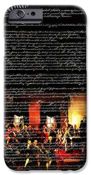 Fourth Of July iPhone Cases - We The People - The US Constitution 20131220 iPhone Case by Wingsdomain Art and Photography