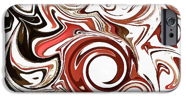 Catherine White Digital Art iPhone Cases - We Whirl iPhone Case by Catherine Lott