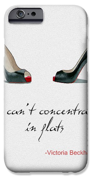 Black Shoes iPhone Cases - Wear the Right Shoes iPhone Case by Rebecca Jenkins