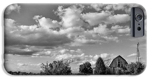 Illinois Barns iPhone Cases - Weather Barn iPhone Case by Lauri Novak