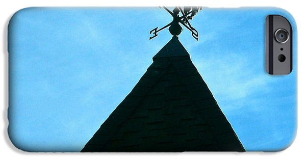 Bull Pyrography iPhone Cases - Weather Vane iPhone Case by DUG Harpster