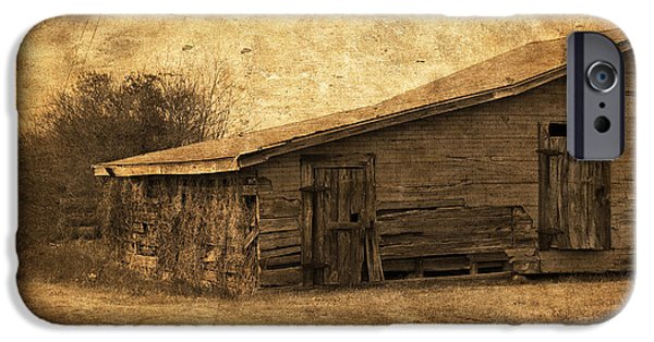 Old Barns iPhone Cases - Weathered and Old iPhone Case by Kim Hojnacki