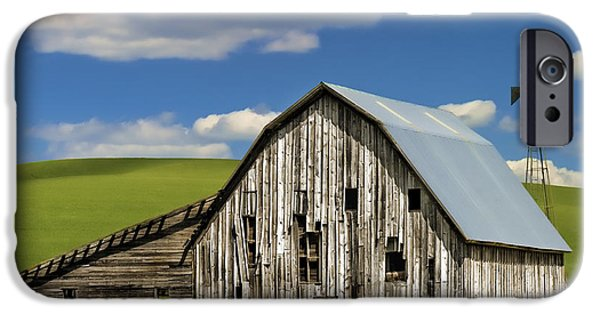 Farming Barns iPhone Cases - Weathered Barn Palouse iPhone Case by Carol Leigh