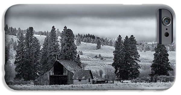 Shed iPhone Cases - Weathered Beneath the Storm iPhone Case by Mike  Dawson