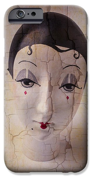 Chip iPhone Cases - Weathered Doll Face iPhone Case by Garry Gay