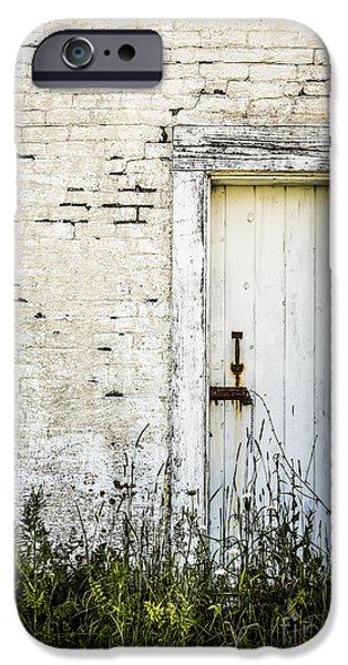 Wooden Door iPhone Cases - Weathered Door iPhone Case by Diane Diederich