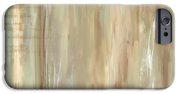 Beige Abstract iPhone Cases - Weathered Reminiscense iPhone Case by Lourry Legarde