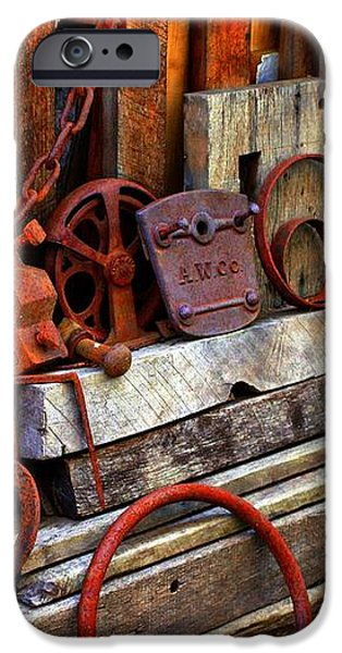 Weathered Rims And Chains iPhone Case by Marcia Lee Jones