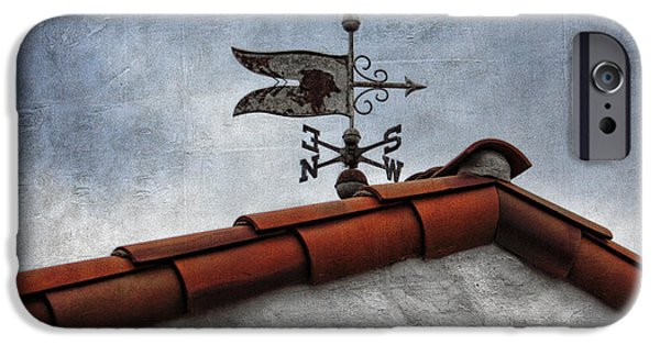 Weathervane Photographs iPhone Cases - Weathered Weathervane iPhone Case by Carol Leigh