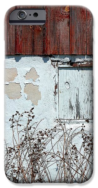 Cabin Window iPhone Cases - Weathered Window iPhone Case by Deena Stoddard
