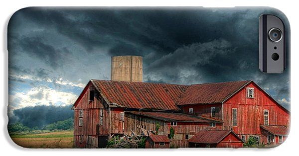 Rural iPhone Cases - Weathering the Storm iPhone Case by Lori Deiter
