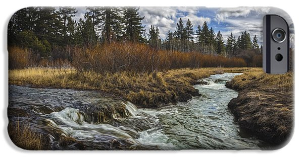 West Fork iPhone Cases - Webbs Crossing iPhone Case by Mitch Shindelbower