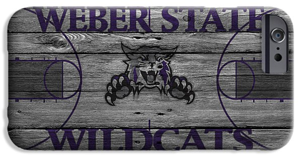 Dunk iPhone Cases - Weber State Wildcats iPhone Case by Joe Hamilton