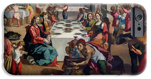 Celebration Paintings iPhone Cases - Wedding at Cana iPhone Case by Andrea Boscoli