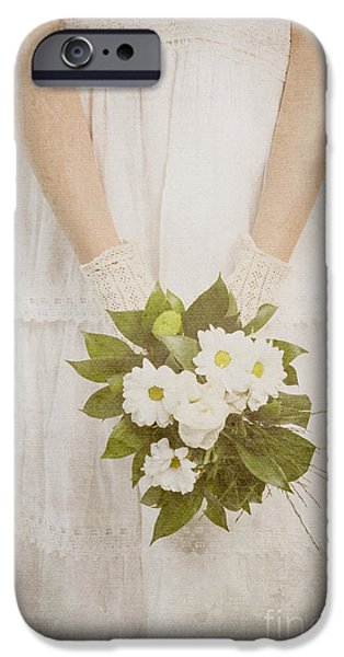 Rose Pyrography iPhone Cases - Wedding Bouquet iPhone Case by Jelena Jovanovic