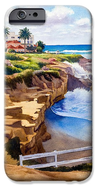 Horizon Paintings iPhone Cases - Wedding Bowl La Jolla California iPhone Case by Mary Helmreich