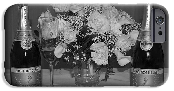 Table Wine iPhone Cases - Wedding Champagne iPhone Case by Frozen in Time Fine Art Photography