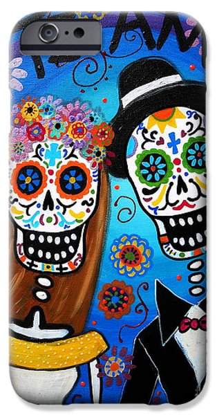 Bride iPhone Cases - Wedding Couple  iPhone Case by Pristine Cartera Turkus