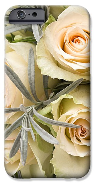 Creativity iPhone Cases - Wedding Flowers iPhone Case by Wim Lanclus