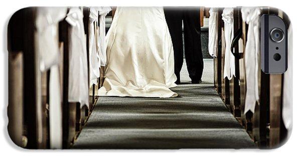 Ceremony iPhone Cases - Wedding in church iPhone Case by Elena Elisseeva