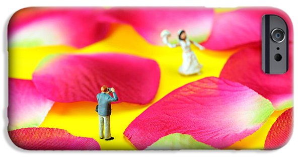 Rose Petals iPhone Cases - Wedding Photography Little People big worlds iPhone Case by Paul Ge
