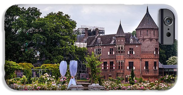 Garden Scene Photographs iPhone Cases - Wedding Setting in De Haar Castle. Utrecht iPhone Case by Jenny Rainbow