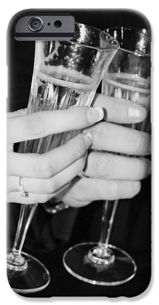 Wedding Toast iPhone Case by Valerie Loop