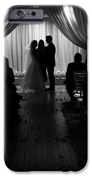 Silhoette iPhone Cases - Wedding Vows iPhone Case by Charles Benavidez