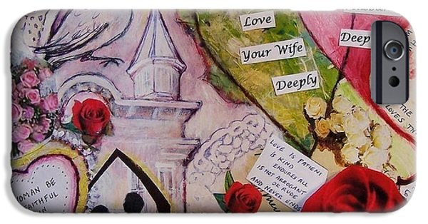 Betrothed iPhone Cases - Wedding Vows of God - A Good Husband and A Good Wife iPhone Case by Dana Vacca
