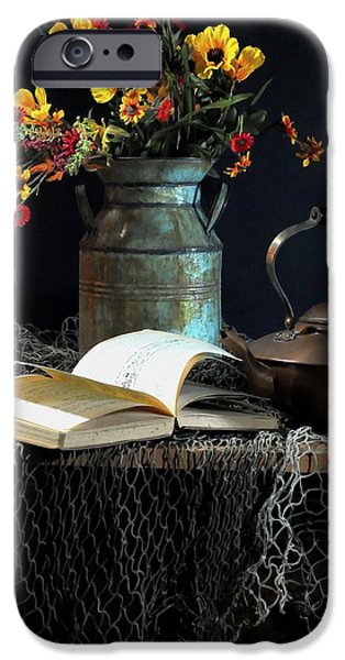 Still Life With Pitcher iPhone Cases - Week Days iPhone Case by Diana Angstadt