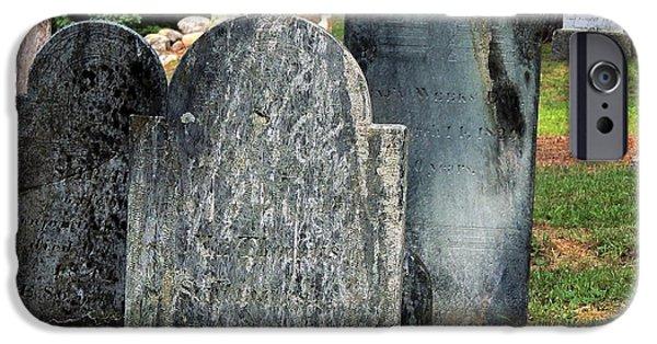 Best Sellers -  - Headstones iPhone Cases - Weeks Cemetery iPhone Case by Mim White