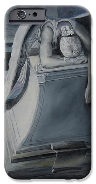 Cemetary iPhone Cases - Weeping Angel iPhone Case by Gino Didio