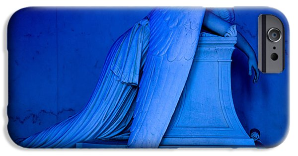 Headstones Digital Art iPhone Cases - Weeping Angel Statue iPhone Case by Jerry Fornarotto