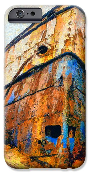 Rust Drawings iPhone Cases - Weeping ship iPhone Case by George Rossidis