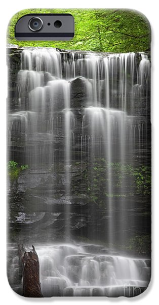 States iPhone Cases - Weeping Wilderness Waterfall iPhone Case by John Stephens