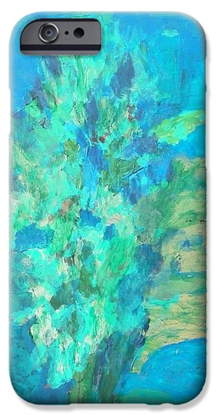 Willow Lake Paintings iPhone Cases - Weeping Willow iPhone Case by Harry Hartshorne Jr