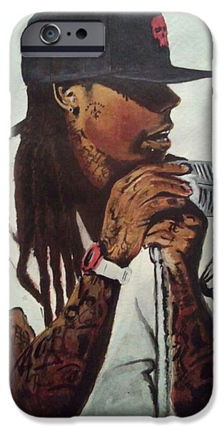 Lil Wayne Paintings iPhone Cases - Weezy iPhone Case by  Andre Alexander