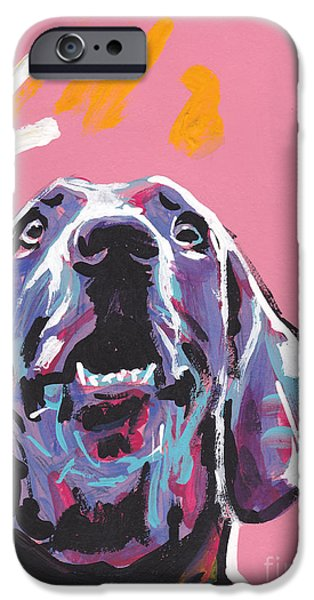 Weimaraner iPhone Cases - Weim Me Up iPhone Case by Lea