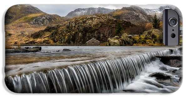 Boat House iPhone Cases - Weir At Ogwen iPhone Case by Adrian Evans