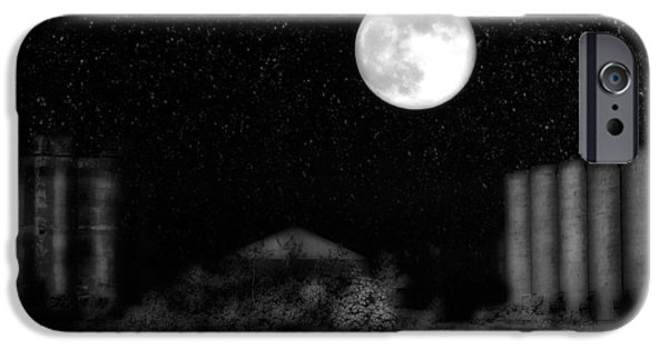 Snowy Night iPhone Cases - Weird Night iPhone Case by Gothicolors Donna Snyder