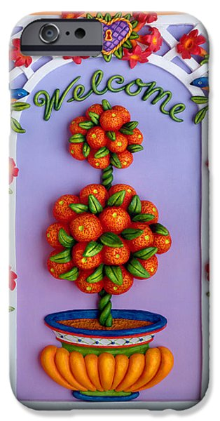 Snake Sculptures iPhone Cases - Welcome iPhone Case by Amy Vangsgard