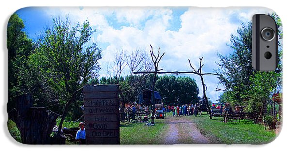 Amish Community Photographs iPhone Cases - Welcome and Enjoy iPhone Case by Tina M Wenger