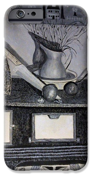 Old Pitcher Paintings iPhone Cases - Welcome Friends 1 of 2 iPhone Case by Robert Rombeiro