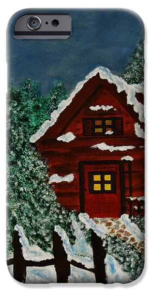 Wintertime iPhone Cases - Welcome Home iPhone Case by Celeste Manning
