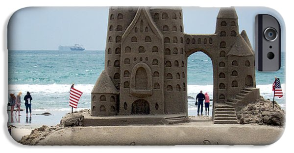 Sand Castles Photographs iPhone Cases - Welcome Home iPhone Case by Mary Lee Dereske