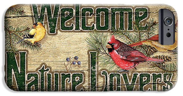 Sign iPhone Cases - Welcome Nature Lovers iPhone Case by JQ Licensing