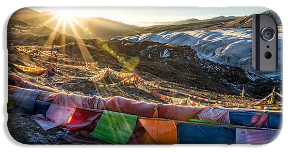 Tibetan Buddhism iPhone Cases - Welcome Sun iPhone Case by James Wheeler