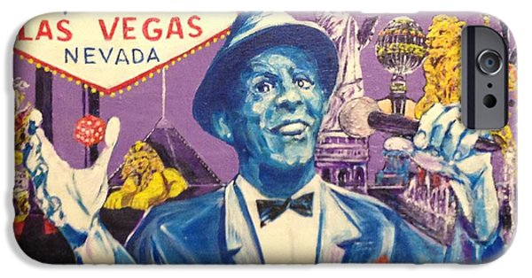 Frank Sinatra Paintings iPhone Cases - Welcome To Fabulous Tom DeMille iPhone Case by Jonathan Morrill