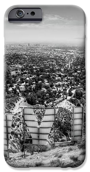 Welcome to Hollywood - BW iPhone Case by Natasha Bishop