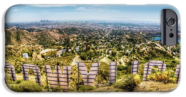 Rear View iPhone Cases - Welcome to Hollywood iPhone Case by Natasha Bishop